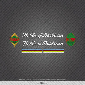 01462 Hobbs Of Barbican Bicycle Stickers - Decals - Transfers