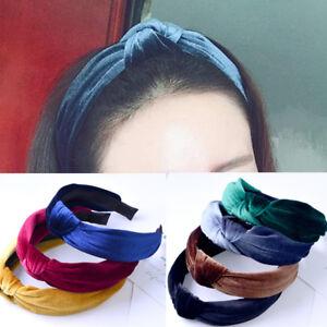 Korean-Sweet-Girls-Bow-Hair-Band-Boho-Pleuche-Wide-Knot-Headband-Accessories