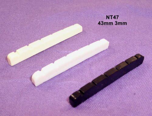 BLACK,WHITE OR IVORY 43mm GUITAR NUT FOR FENDER STRAT ETC NT47