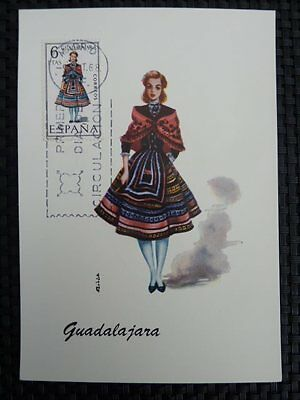Spain Mk 1968 Costumes Spanien Trachten Maximumkarte Maximum Card Mc Cm A8669 Motive
