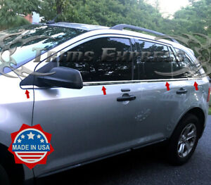 2007-2014-Ford-Edge-8Pc-Chrome-Window-Sill-Trim-Accent-Stainless-Steel-Ovelray