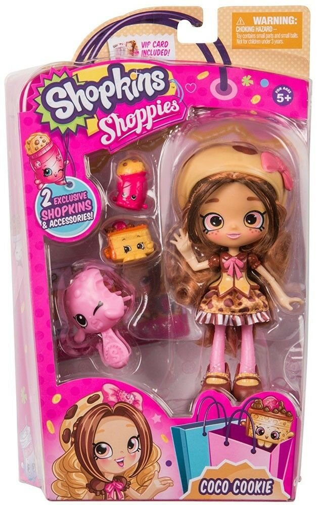 Shopkins Shoppies Season 4 Coco Cookie Doll Figure