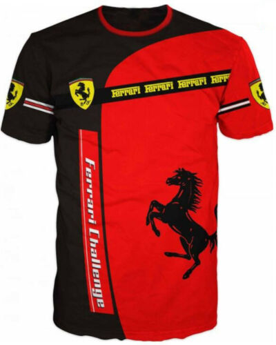 Ferrari Challenge Sposrt Drift Italy Official 3D T-Shirt Tee Hemd Camiseta Top