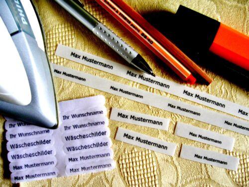 Bügeletiketten Bügelnamen Textilschilder Label Namensaufkleber Aufkleber