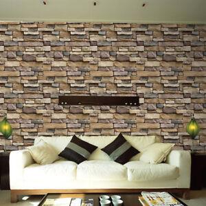 3d carta da parati mattone pietra rustico effetto for Carta parete adesiva