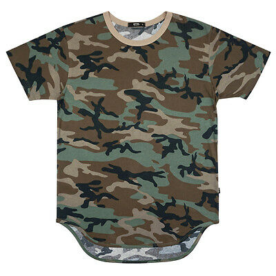 EPTM EPITOME CONTEMPOARY CLOTHING LONG CAMO T SHIRT EXTENDED  FORT KNOX CAMO