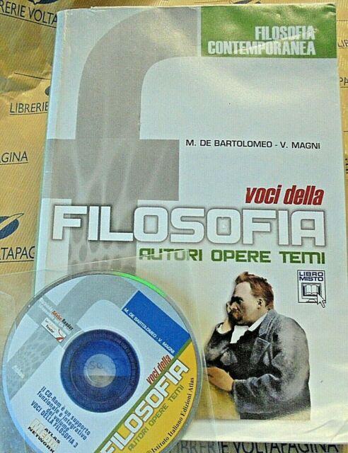 VOCI DELLA FILOSOFIA. FILOSOFIA CONTEMPORANEA con Cd - DE BARTOLOMEO - ATLAS