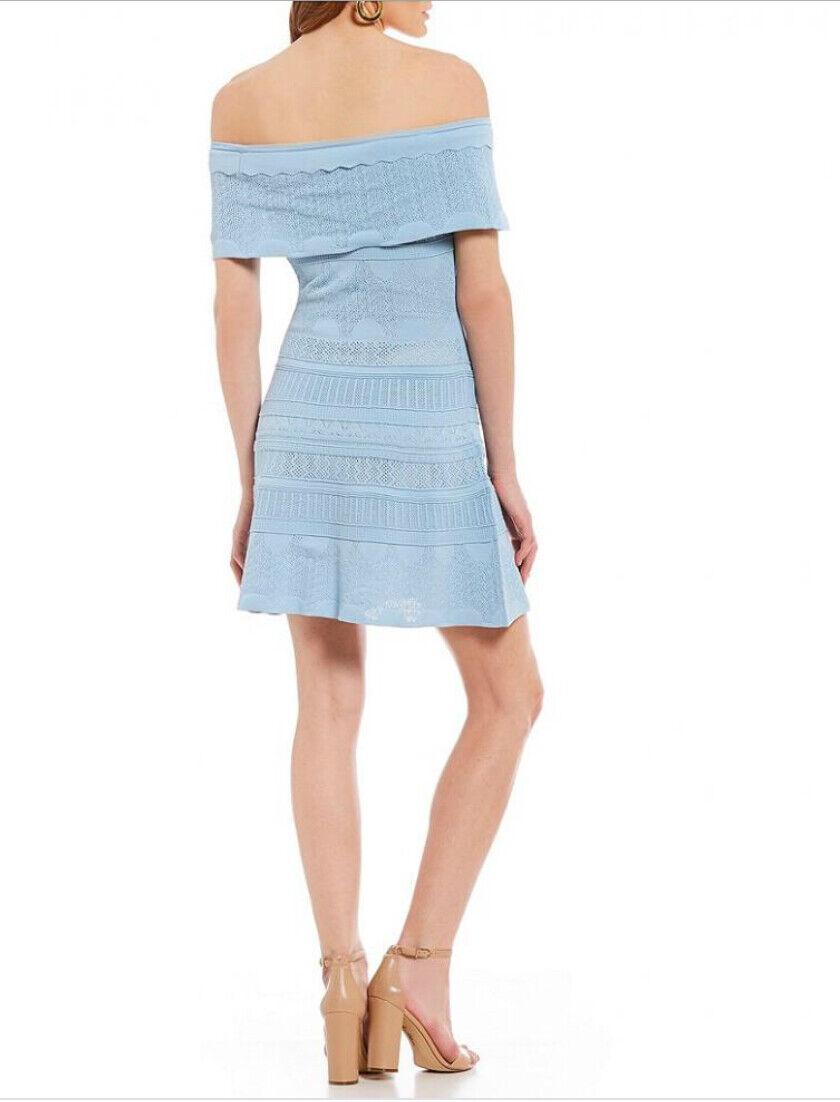 Nuovo con etichette Foxiedox Donna Small Small Small  10 colore blu pallido spalla breve estate Skater Dress f0af2c