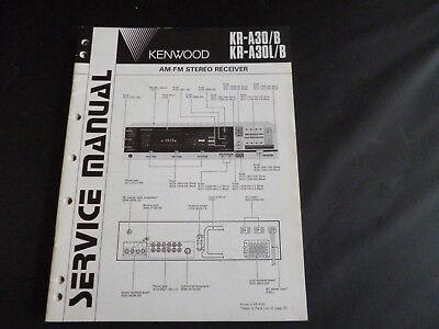 Tv, Video & Audio Treu Original Service Manual Kenwood Kr-a30/b Kr-a30l/b