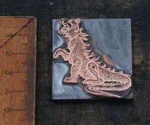 DRACHE-Galvano-Druckplatte-Klischee-Eichenberg-printing-plate-copper-imprimerie