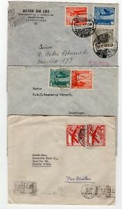 CHILE LAN airmail covers fine condition different franking L9