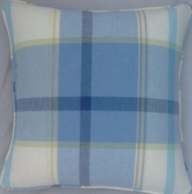 "16"" Vintage cushion cover in Laura Ashley Tuileries Delphinium Fabric Piped"