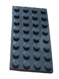 Lego-10-Stueck-dunkelgrau-dark-bluish-gray-Platte-4x8-3035-Neu-Platten-Basics