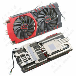 Details about For msi R9 390X/R9 390 GAMING Red Dragon Radiator Cooling Fan  Assembly