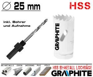 HSS Bi-Metall Lochsäge Metall Bohrkrone Ø 20 mm Dosen Bohrer Loch Fräser PROFI