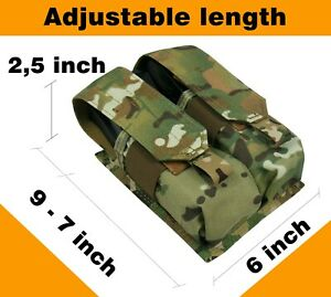 Pouch Case molle pals tactical MULTICAM PAINTBALL airsoft  bag mag waterproof