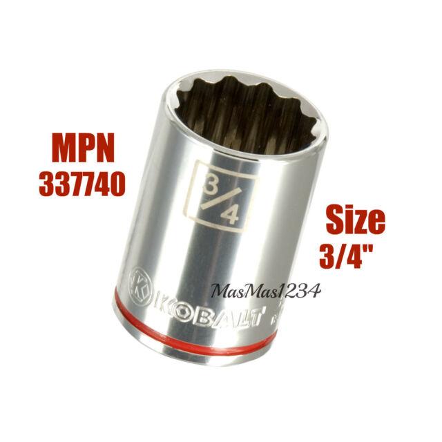 Kobalt Metric 3//8-in Drive 12-point 13mm Shallow Socket