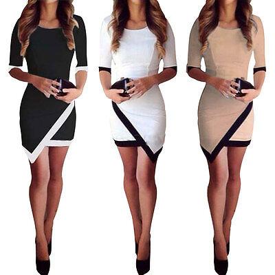 Fashion Casual Dress Bandage Ladies Asymmetric Wear Dresses Women's Dresses Slim
