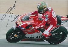 Nicky HAYDEN SIGNED Autograph MotoGP Champion Ducati RIDER 12x8 Photo AFTAL COA