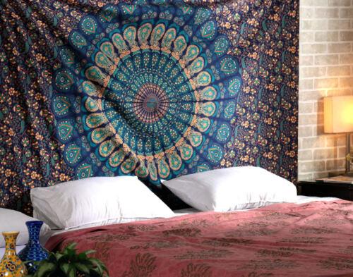"Mandala Beach & Tropical Tapestries King Tapestry Wall Hanging 90x108"" Pure Cotton Mandala Tapestries Decorative"