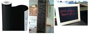 """Chalkboard Contact Paper, 18"""" x 6', Home Or School Use, Write Recipes Or Teach"""