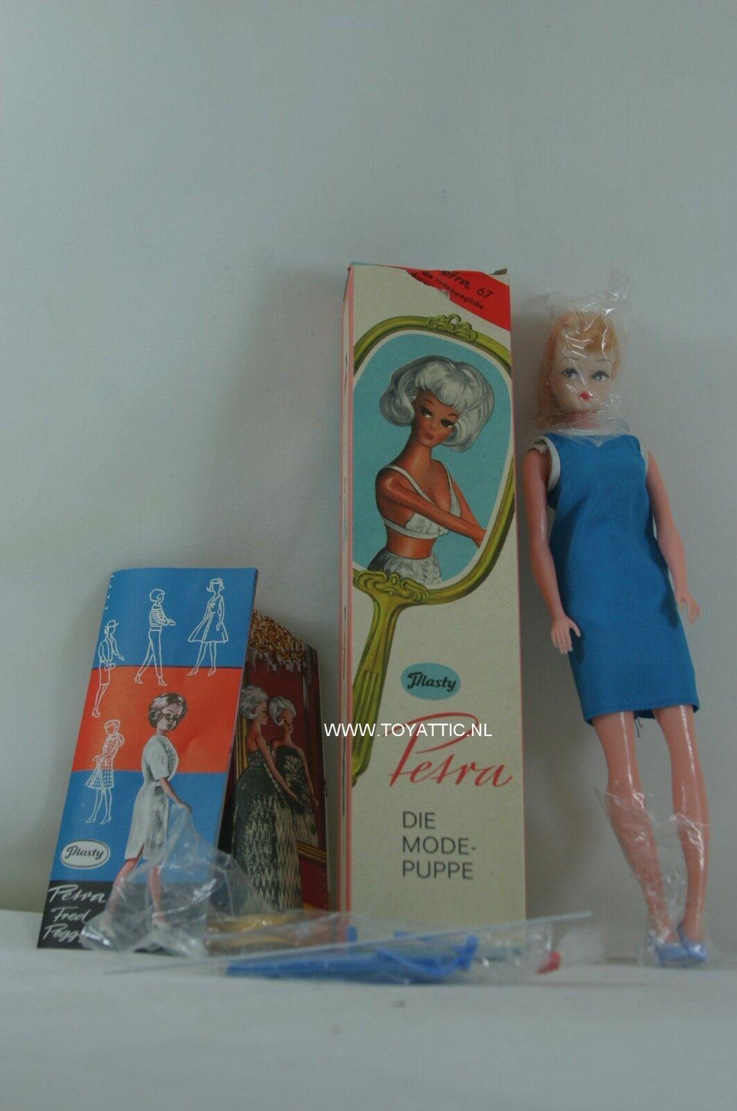 Petra (Barbie Tamaño) Clon Muñeca por Plasty set vintage de 'años 60 en Caja Original