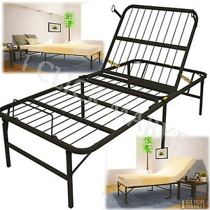 Twin Xl Size Head Adjustable Lift Bed Frame Easy Control