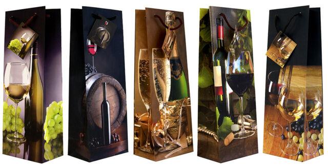 10//20//30 Flaschentüten Wein Sekt L 36x13x9 Geschenktüten Geschenktaschen 99-3005