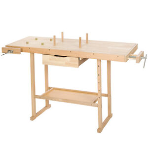 tabli en bois outils atelier bricolage table garage plan de travail ebay. Black Bedroom Furniture Sets. Home Design Ideas
