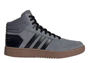 Adidas-HOOPS-2-0-MID-EE7367-Grigio-Scarpe-da-Ginnastica-Uomo-Sportive