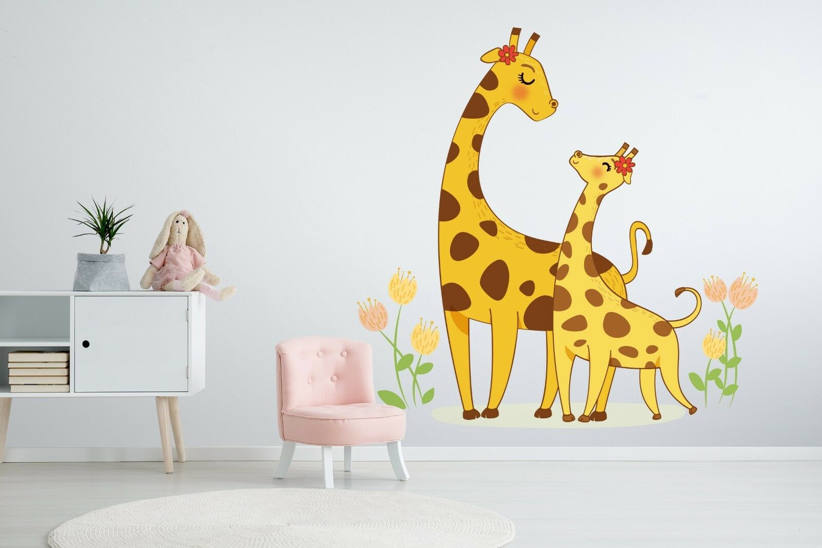 3D Cartoon Giraffe 864 Wallpaper Murals Floor Wall Print Decal Wall Sticker