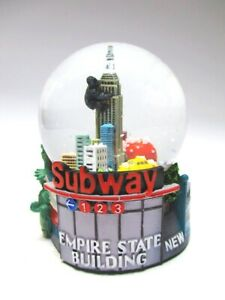 New-York-Schneekugel-Subway-Metro-Empire-State-Amerika-Snowglobe