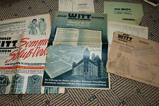 Josef Witt Weiden  von 1954 mit Beilage und Umschlag