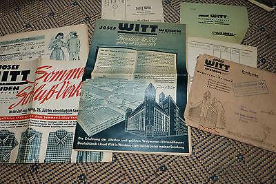 Josef Witt Weiden von 1954 mit Beilage und Umschlag | eBay