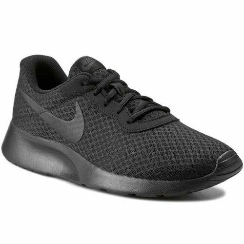 black New Nike Mens Tanjun Running Trainers Shoes  Lightweight black