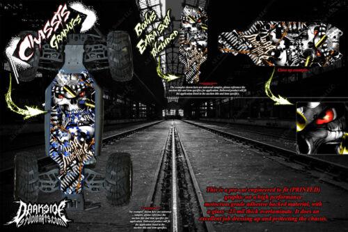 /'WAR MACHINE/' CHASSIS HOP UP DECALS FITS REDCAT VOLCANO VORTEX TORNADO #06056