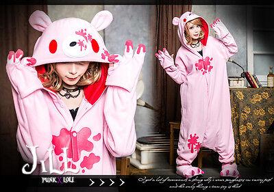 lolita apartment cosplay violent bear vampire KDS sleepwear parka jumpsuit P