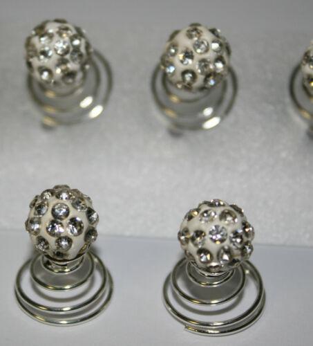 Curlies 12x Haarschmuck Strass Perlen Perlencurlies Hochzeit Kommunion Braut