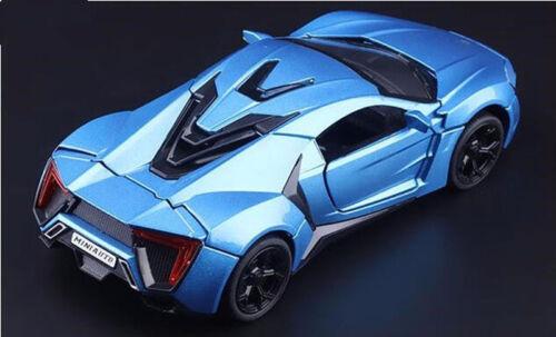 1//32 Blue Diecast Lykan Hypersport Dubai Super Car Sports Collection Vehicles