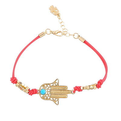 Red HAMSA BRACELET ~ ~ ~ Jewish Good Luck Lucky Against Evil Eye String Kaballah