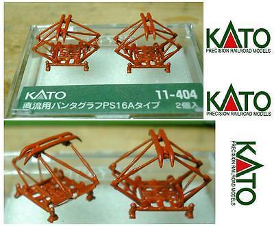 Analitico Kato 11-404 Set N.2 Pantografi Metallo Verniciati Colore Rosso Tipo Fs Scala-n Completa In Specifiche