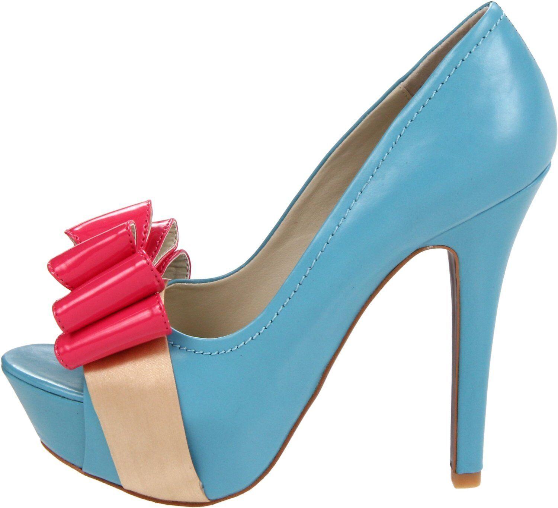 100 MOJO MOJO MOJO MOXY Pippa Platform Pumps Heels  Blau Leather NEW Größe 6.5 c8bfa3