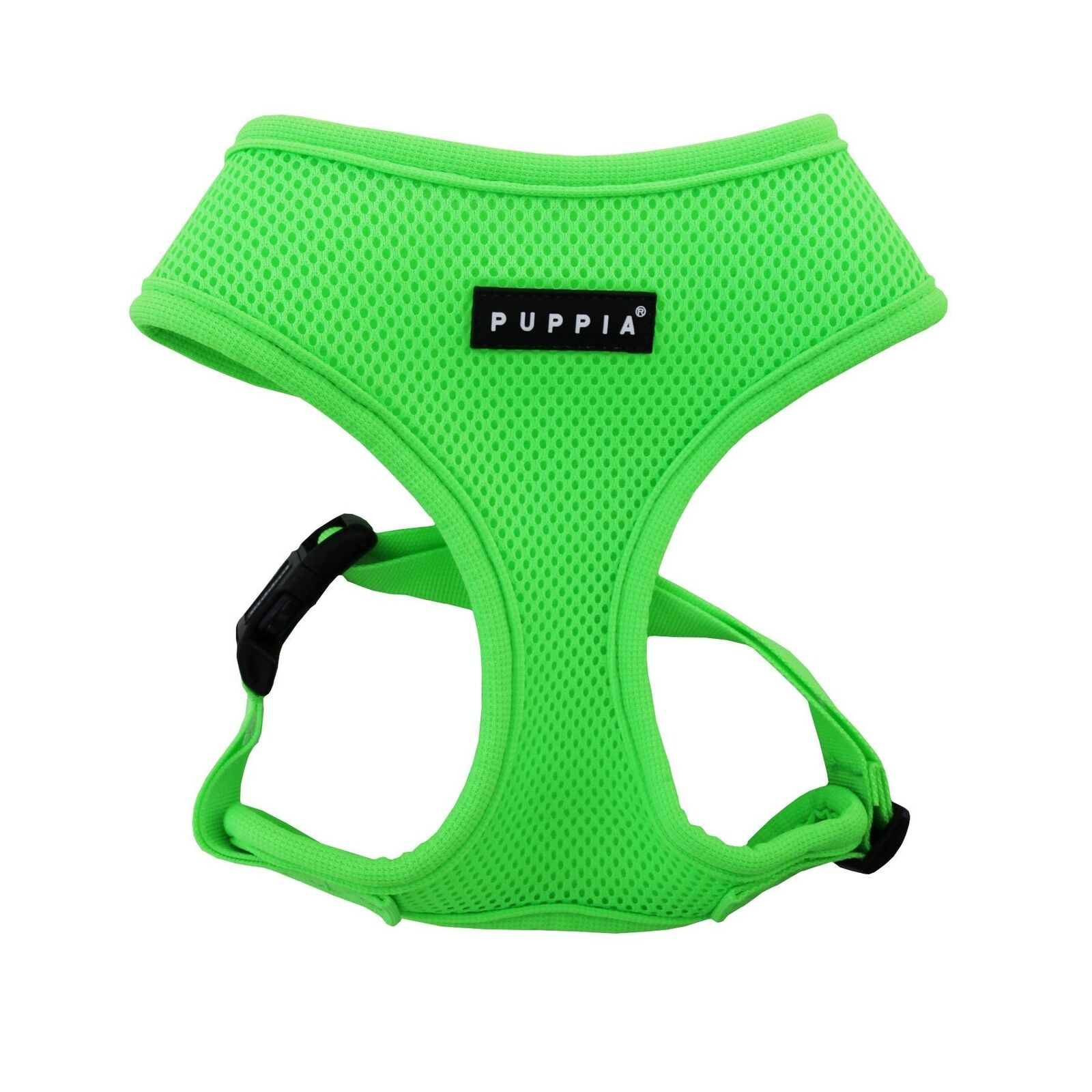 Puppia Neon Harness, Green, Large