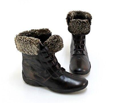 Stiefeletten Winter Boots Schnürer Echtleder braun Gr. 38 G   eBay