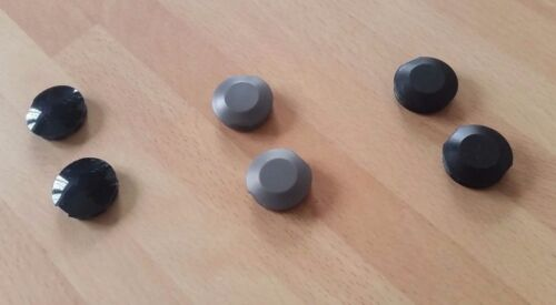 Pair of Cotterless Crank Plastic Dust Caps Covers
