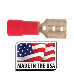 22-18 187 QUICK DISCONNECT NON INSULATED FEMALE CONNECTOR 3//16 MADE IN USA 50