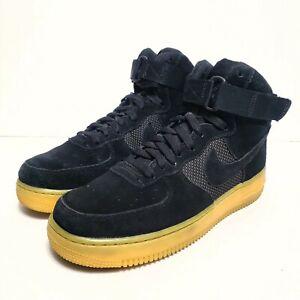 Nike Air Force 1 High 07 Lv8 Black Suede Leather Gum Beige 806403 003 Sz 8 91203577130 Ebay