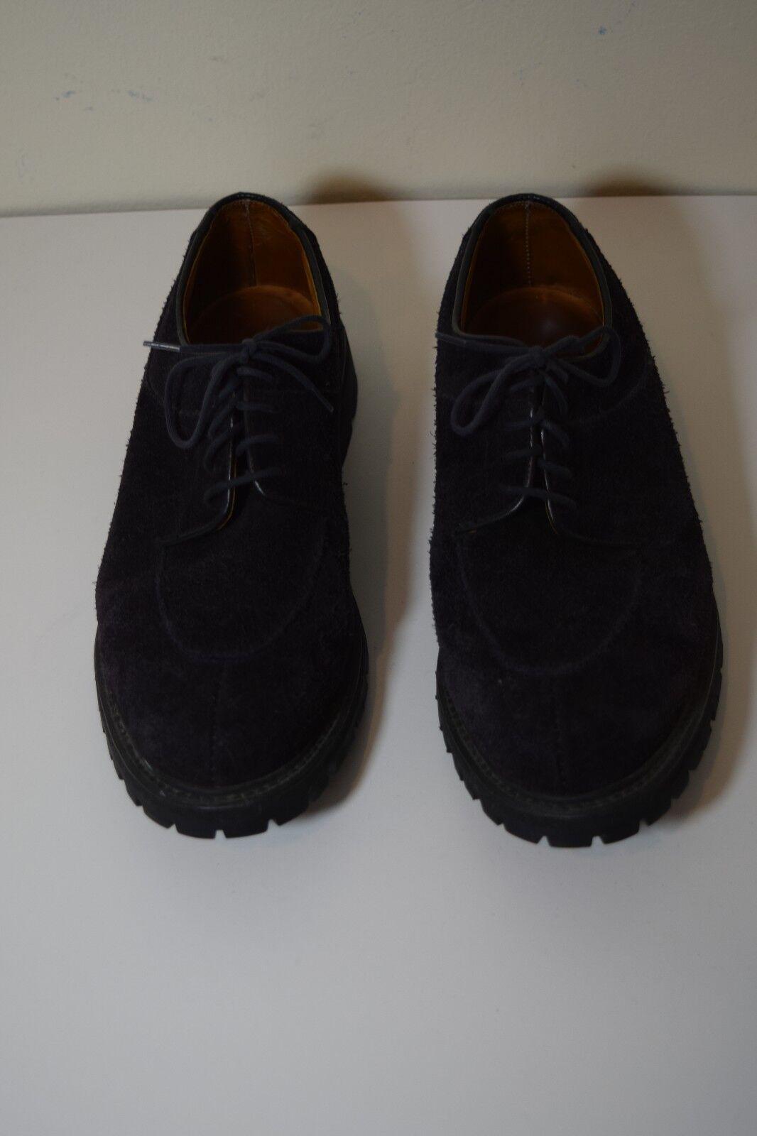 Alfred Sargent Inglaterra para Hombre Zapatos Cuero 7.5 Negro Cuero Zapatos De Gamuza aeed2e