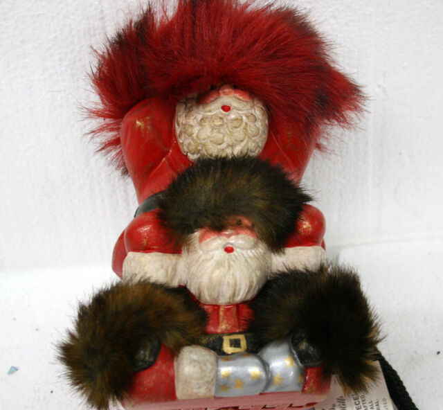 Timmy Woods Gemini Santa red white Wooden  Handbag with strap collectible NWT