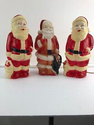 "Vintage Santa Claus Lighted Blow Mold Empire Plastic 13/"" Christmas 1968"